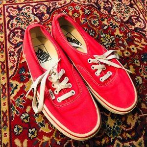 Vintage red vans sneakers
